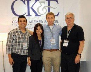 Cesar Arellanes, Kim Sim, Jake Rubenstein, John Conkle at Cosmoprof Asia 2014