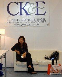 Kim Sim at Cosmoprof Asia 2014