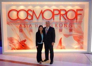 Kim Sim and John Conkle at Cosmoprof Asia 2014