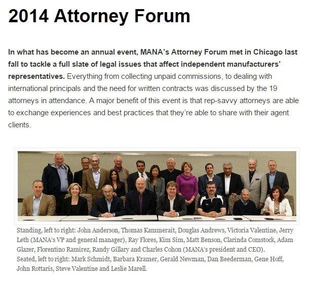 MANA Attorney Forum 2014